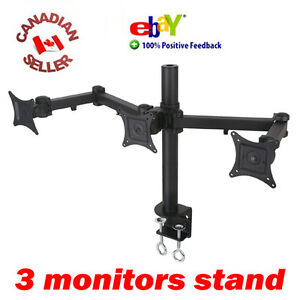 Triple-LCD-Monitor-Desk-Stand-Mount-clamping-3-Screens-17-18-19-20-21-22-24-034