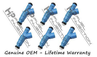 Set of 6 Bosch 0280155972 fuel injector 2002-2003 Jeep Liberty 3.7L V6 53031099