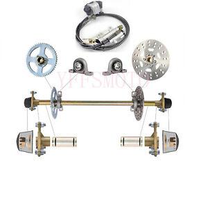 Go-Kart-Rear-Axle-Complete-Kit-Brake-Master-Cylinder-fit-Gokart-Quad-ATV-Buggy