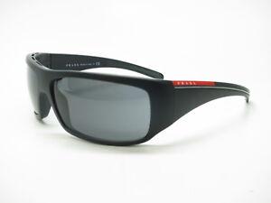 d10c59c90e4c0 Details about New Authentic Prada Sport SPS 01L 1BO-1A1 Black Sand w Grey  Polarized Sunglasses