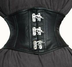 Taillen korsett corsage aus Leder Schwarz Gr 34,36,38,40,42,44,46,bis 56