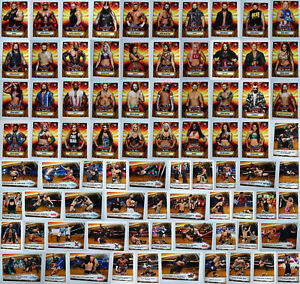 2019-Topps-WWE-SummerSlam-Gold-Wrestling-Cards-Complete-Your-Set-You-Pick-1-100