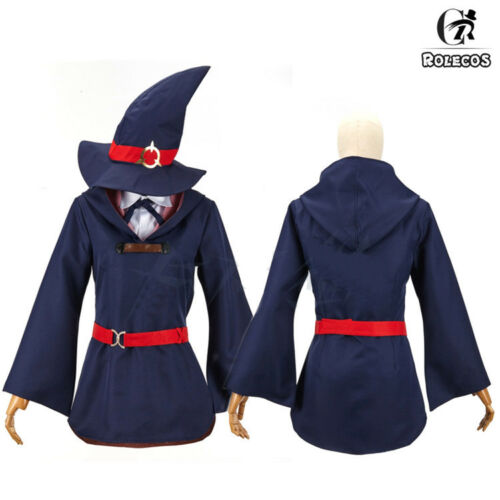 Little Witch Academia Akko Sucy Lotte Dress Uniform Outfit Cosplay Costume /& Hat