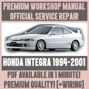 workshop manual service repair guide for honda integra 1994 2001 rh ebay co uk honda integra dc2 workshop manual honda integra 700 service manual
