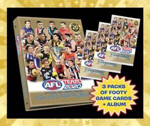 2020-AFL-TEAMCOACH-TEAM-COACH-TRADING-GAME-BLANK-ALBUM-FOLDER-3-SEALED-PACKS