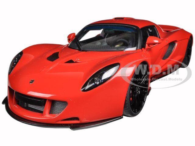 HENNESSEY VENOM GT SPYDER rosso 1/18 DIECAST MODEL CAR BY AUTOART 75403