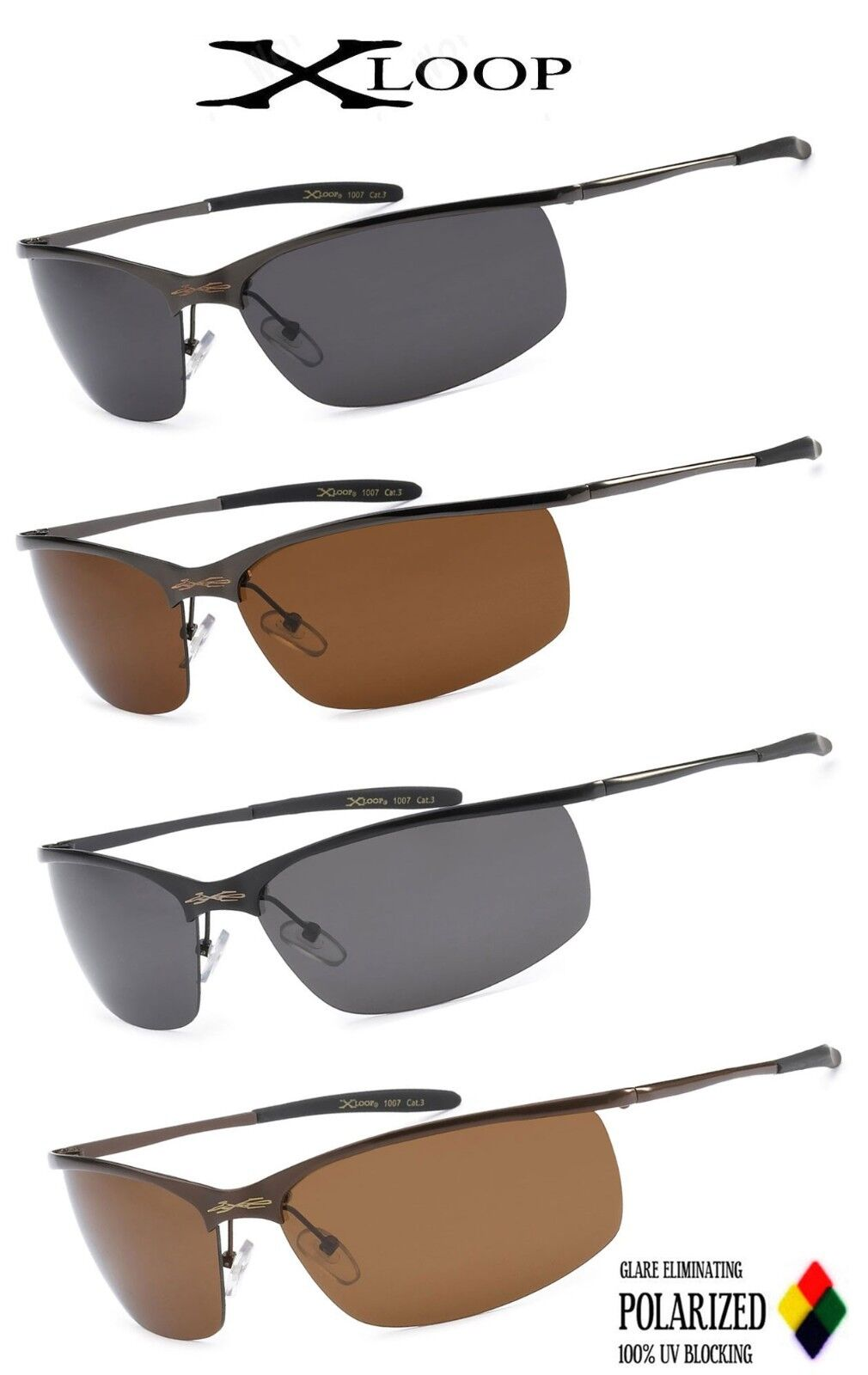 f9d2247f41 You are bidding on ONE of the above. Xloop Metal Boating Polarized Driving Polarized  Sunglasses