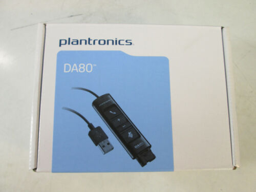 201852-01 NEWPlantronics D80 USB Audio Adapter Cable for Headset PN