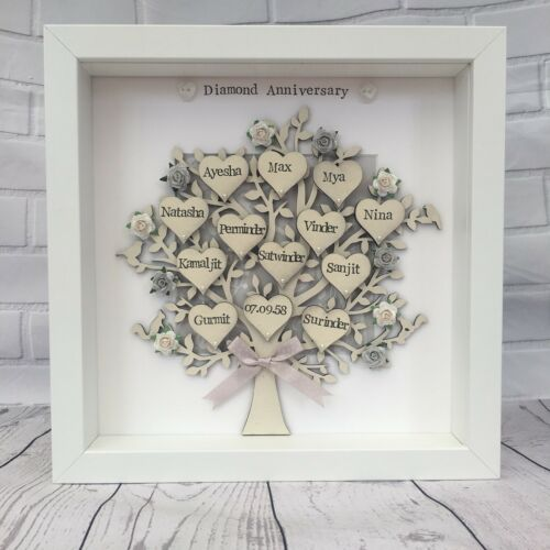 Personalised Golden Wedding Family Tree Anniversary Grandparents Gift 50th
