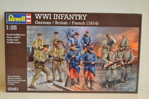 Revell 02451    WW I Infantry  Pack Deutsch Britisch// Französisch   1:35