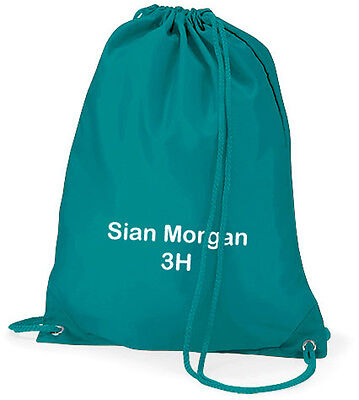 Personalised School Gym Drawstring Bag - Swimming / PE Kit - With Child's Name!
