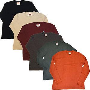 Levis shirt mens thermal long sleeve medium weight regular for Mens medium long sleeve shirts