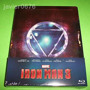 IRON-MAN-3-BLU-RAY-NUEVO-Y-PRECINTADO-EDICIoN-STEELBOOK