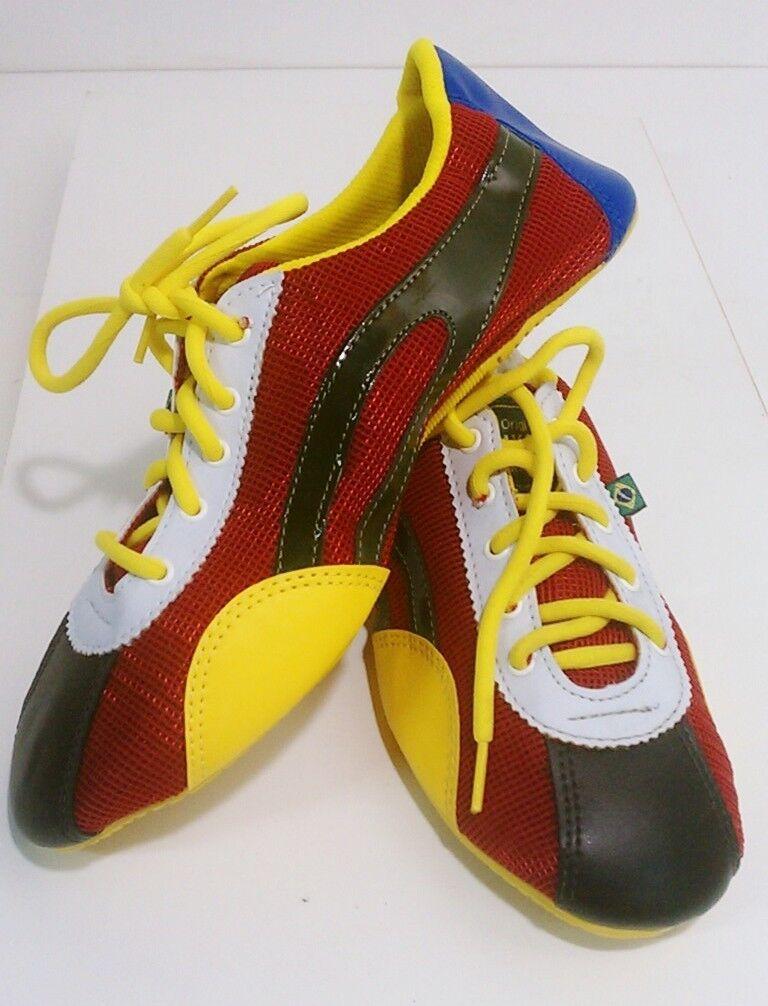 Taygra Brasilien Brasilien Brasilien Rot Gelb & Braun Schmal Turnschuhe Flexibel & Hell Schuhe Größe  256a1e