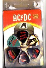 AC/DC - Guitar Pick Set - 6 Picks - Voltage Design- Licensed New in Pack