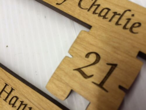 Personalised Wooden 18th and 21st Key Engraved Free