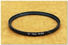 Clear UV 72mm Slim Filter Pentax Canon Nikon 18-200 24-85
