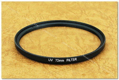 Clear UV 72mm Slim Filter Pentax Canon Nikon 18-200 24-85