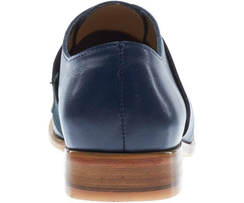 Mens Handmade scarpe Leather Moccasins Navy blu Formal Dress Casual Casual Casual Wear stivali 358d4c