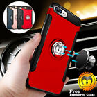 For iPhone 6 6S 7 Plus 360° Rugged Slim Case Hybrid Armor Cover + Tempered Glass