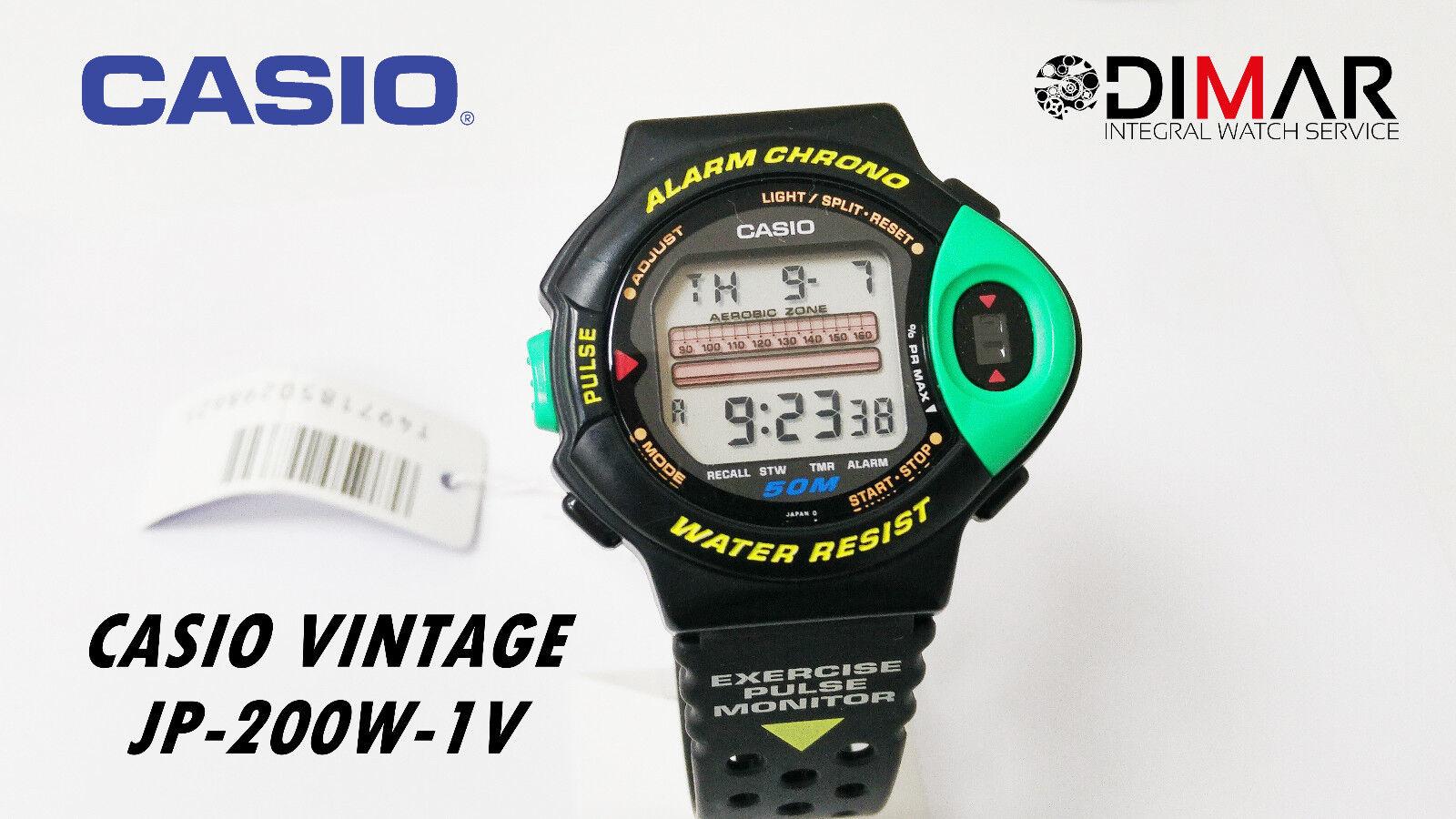 0ed8bc2eabcf Reloj Vintage Casio Jp-200w-1v Sport Pulsometro QW