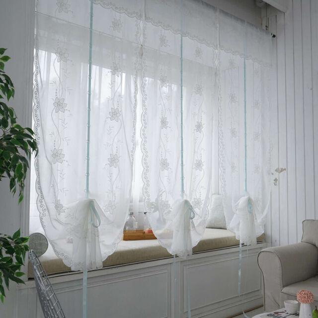 Bedroom Window Tie Up Sheer Curtains