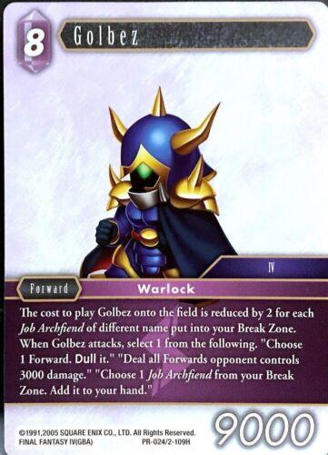 Final Fantasy TCG Golbez PR-024//2-109H OPUS 2 Promo Non-Foil NEW