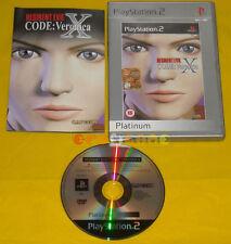 RESIDENT EVIL CODE VERONICA X Ps2 Versione Italiana Platinum »»»»» COMPLETO