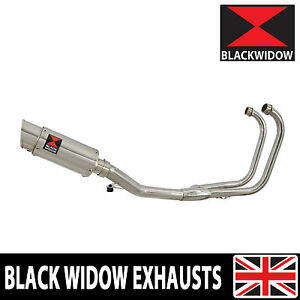2-1 Stainless Exhaust System Down pipes 200SS Round Silencer GS500E GS500F 89-09