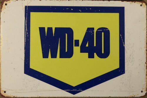 WD-40 Rustic Look Vintage Tin Metal Sign Man Cave Shed-Garage /& Bar Sign