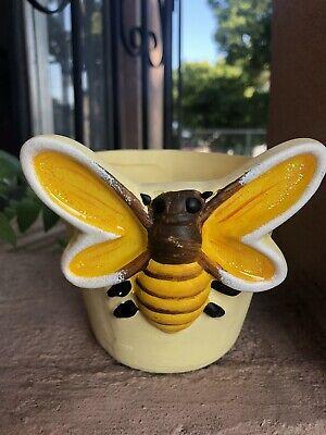 Ceramic Flower Pots Planters Bee Design Succulent Arrangement