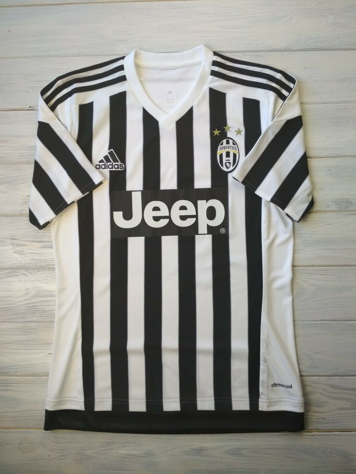 Juventus jersey small 2015 2016 home shirt AA0336 soccer football Adidas