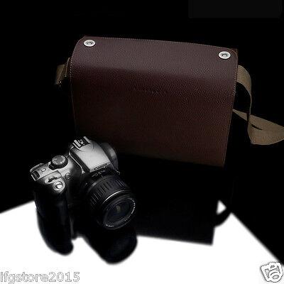 New GARIZ Shoulder Bag Case Binalpath Large Brown for Mirrorless DSLR Camera Bag