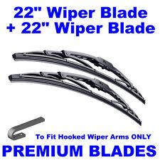 "Premium 22"" Inch & 22"" Inch Pair Front Windscreen Wiper Blades"