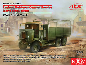 ICM 35602 - 1/35 -  Leyland Retriever General Service (early production) kit UK