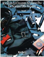PUBLICITE ADVERTISING 095  1985  KICKERS  chaussures enfants  bottes KOROL