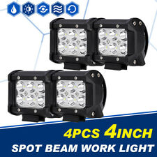 "4PCS 4"" 18W LED Work Light Bar Cube Pod Spot Beam Offroad Driving 4WD Pickup SUV"