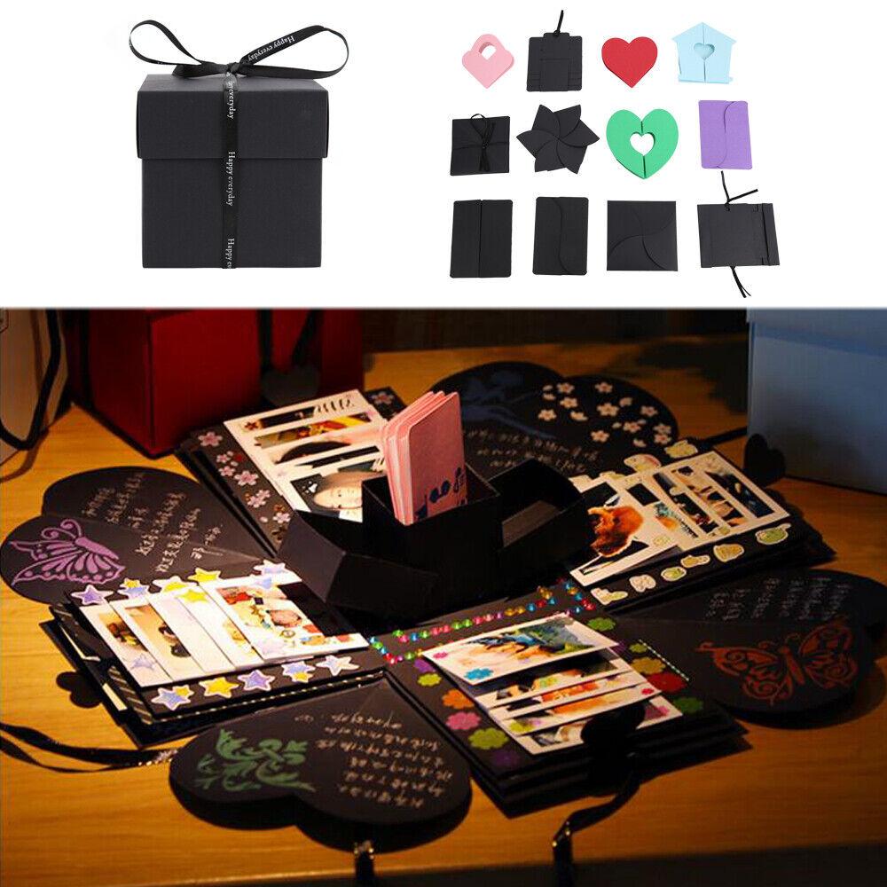 Memory Scrapbook Photo Album Kits Anniversary Gift Surprise Explosion Album Box