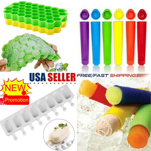 A Ktyssp Ice Cube Maker 20-Cube Ice Tray Ice Cube Mold Storage Container