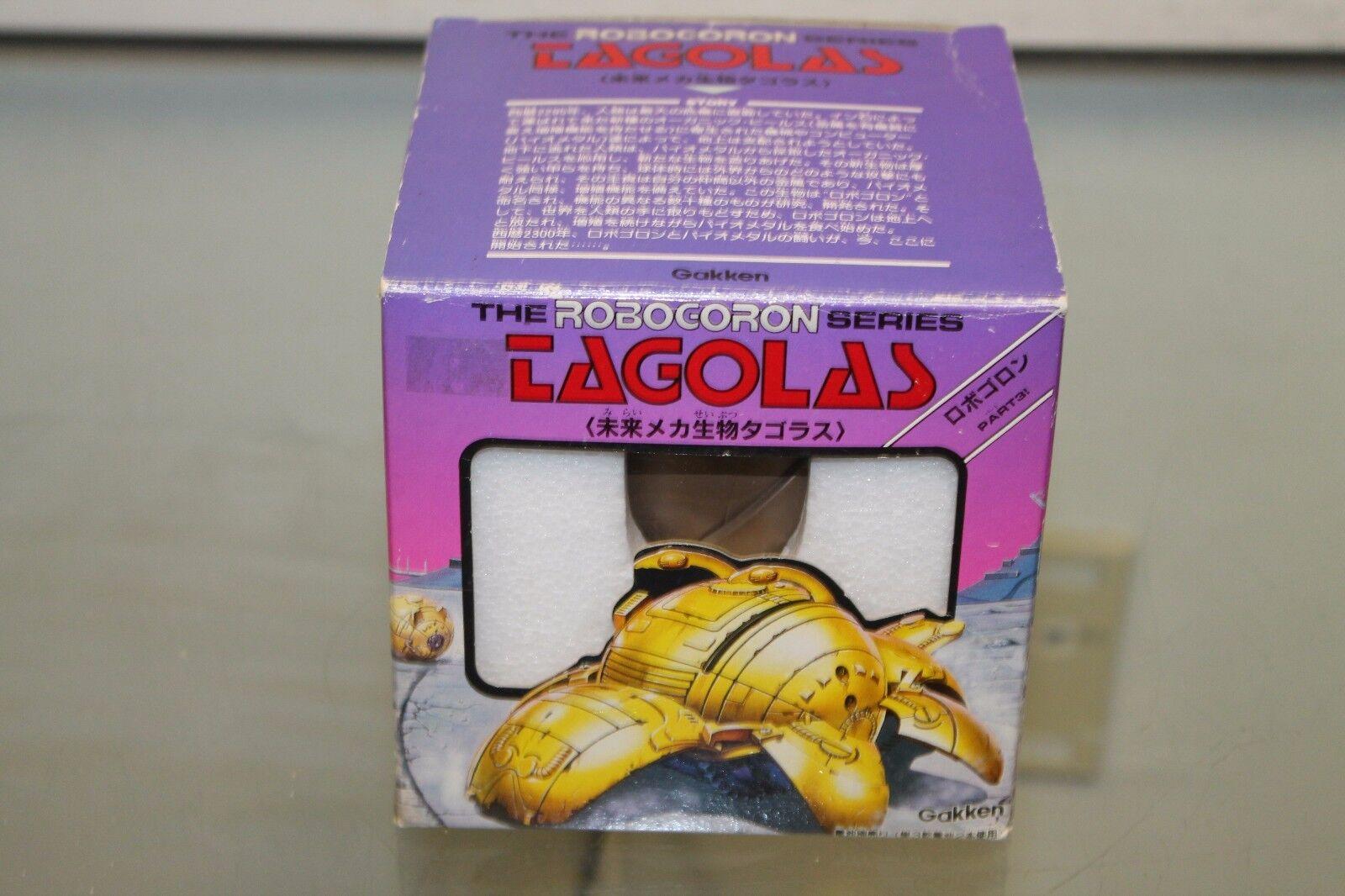 Vtg RARE The Roboggoldn Series Tagolas Gakken Toy Original Box 1980's