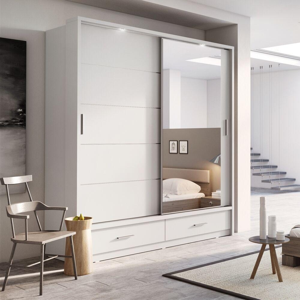 Brand New Modern Bedroom Mirror Sliding Door Wardrobe Arti 5 200cm