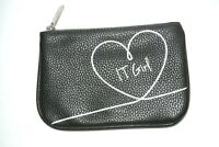 """It Cosmetics """"it Girl"""" Make-up / Cosmetic Bag Black With Zipper"""