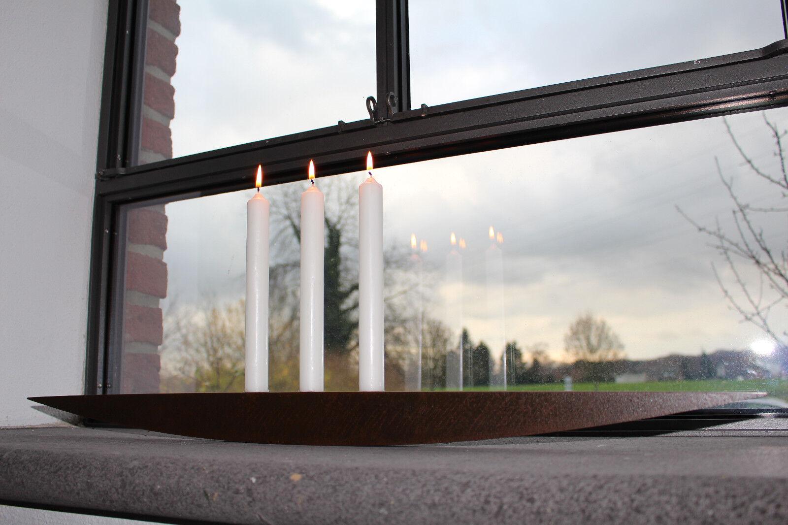 Kerzenleuchter Eisen 80 cm Edelrost Handarbeit