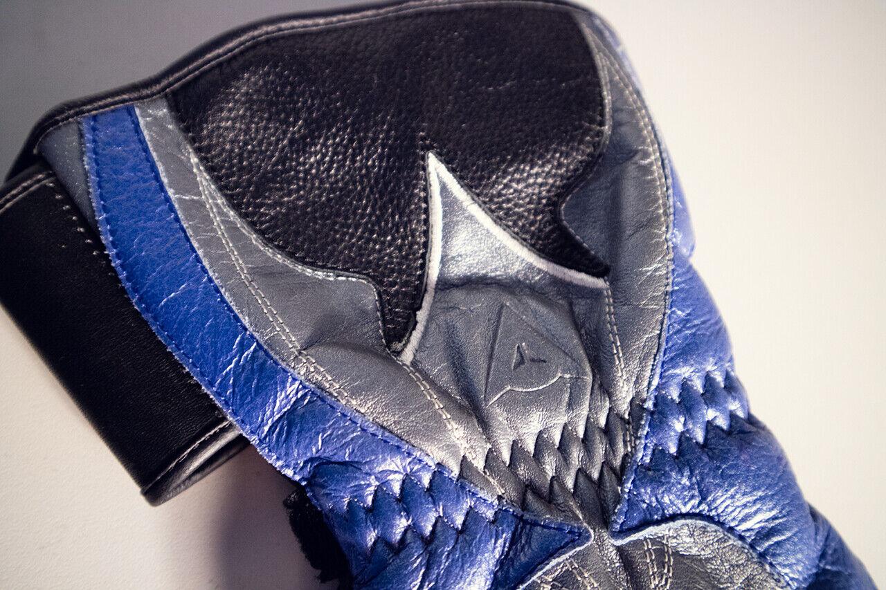 Handschuhe Gloves Dainese  blau schwarz schwarz schwarz Carbon Protektor Größe M Motorrad f4258f