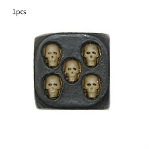 1pcs-6-Sided-Dice-Polyhedral-Black-Skull-dice-game-Dice-for-Dungeons-New