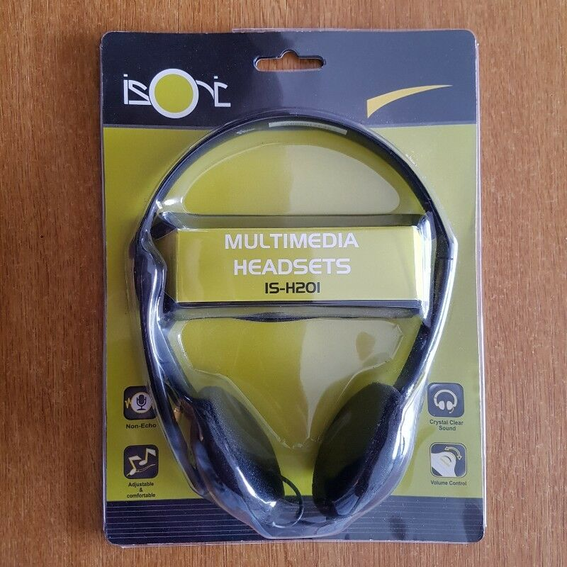 ISONIC MULTIMEDIA HEADPHONES | BUILT-IN MIC | SEALED IN BOX
