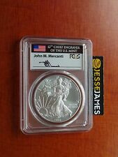 2016 W BURNISHED SILVER EAGLE PCGS SP70 FLAG MERCANTI FDOI FIRST DAY OF ISSUE