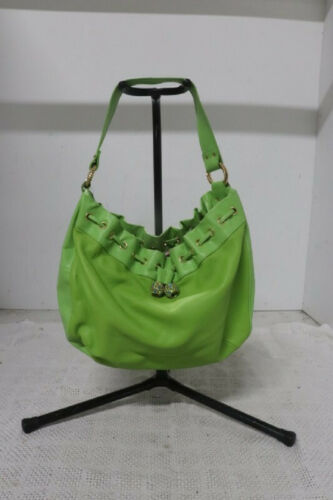 Lilly Pulitzer Lime Green Leather Hobo Bag