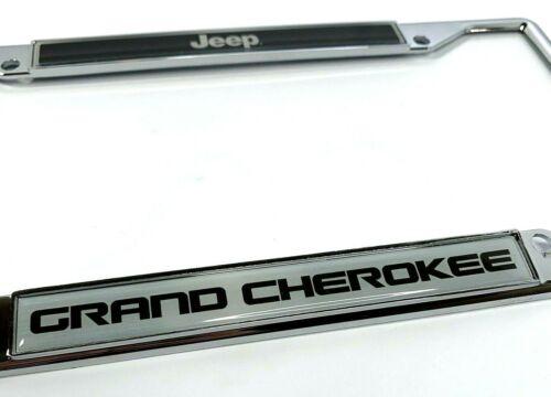 Chrome License Plate Frame for Jeep Grand Cherokee 2018 2019 Emblem // Logo