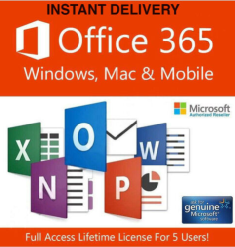 Microsoft®Office 365 2019 Professional Plus For 5 Devices 5Tb Cloud | eBay